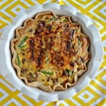 Asparagus, Sausage, and Onion Quiche #BrunchWeek