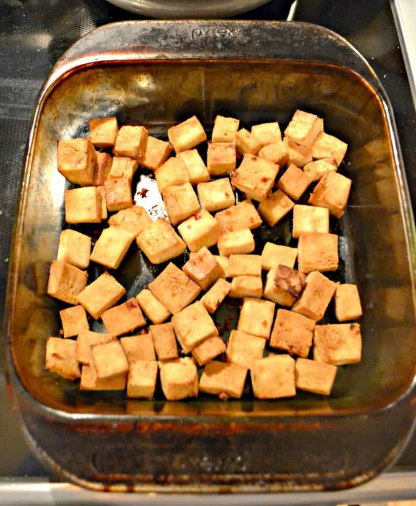 Honey Sesame Tofu is easy to make and a delicious Meatless Monday Meal!