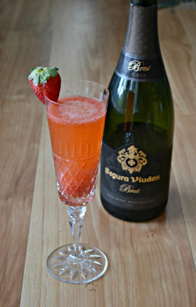 Strawberry Bellini's are the perfect summer sipper
