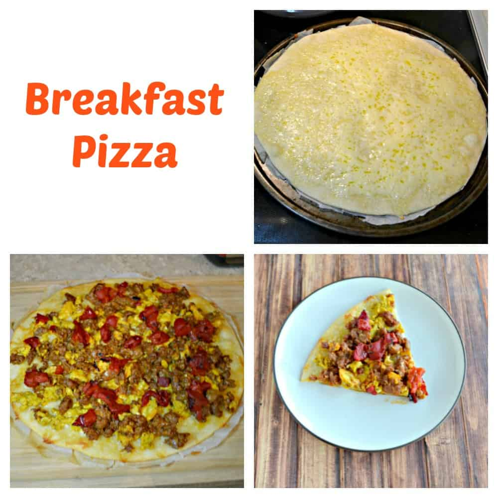 It's a snap to make a delicious breakfast pizza!