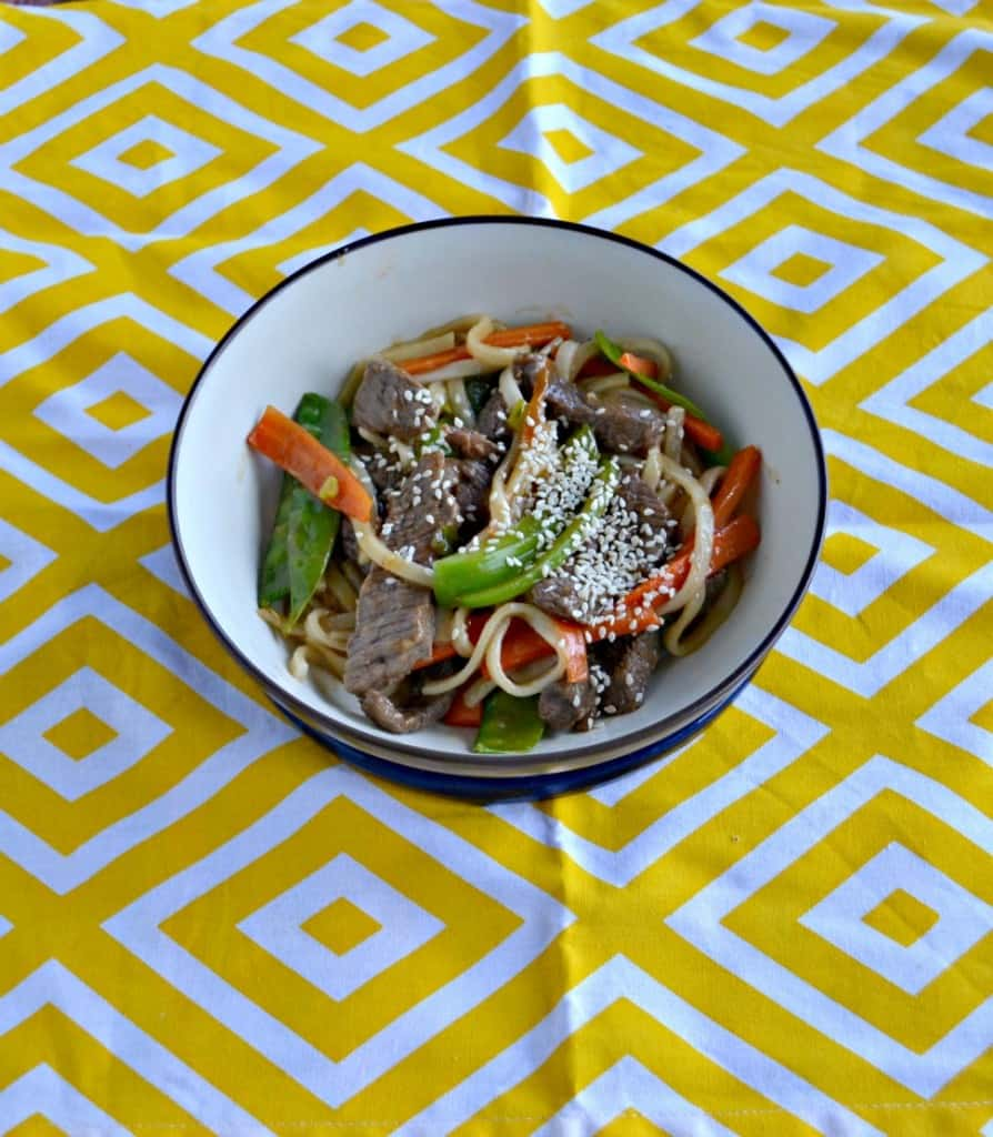 You'll love this Beef and Vegetable Stir Fry with noodles!