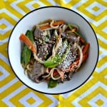 Love this flavorful Beef and Garden Vegetable Stir Fry!
