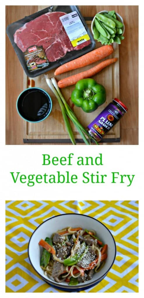It's easy to make a delicious Beef and Garden vegetable Stir Fry during the week!