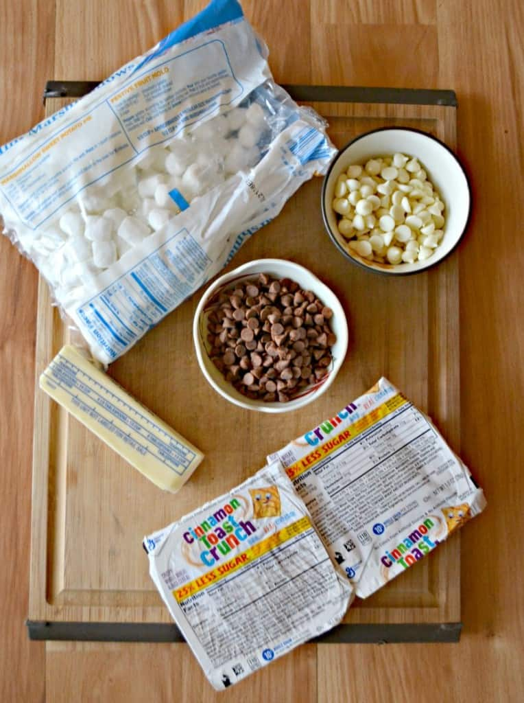 Everything you need to make Cinnamon Toast Crunch Treats.