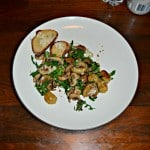 Crispy Gnocchi with Mushrooms and Arugula