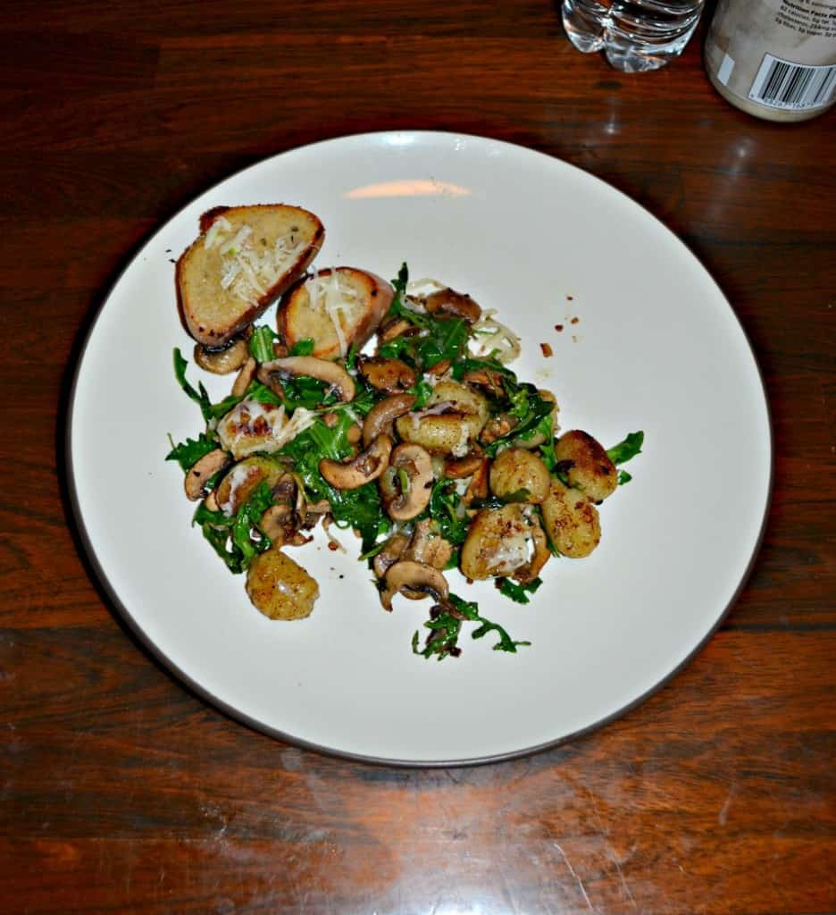 I love this quick and easy Crispy Gnocchi with Mushrooms and Arugula