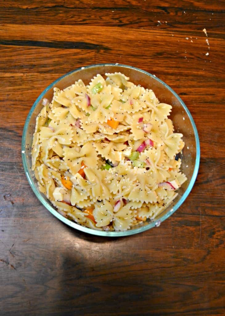 Make a delicious pasta salad with Everything Bagel seasoning!