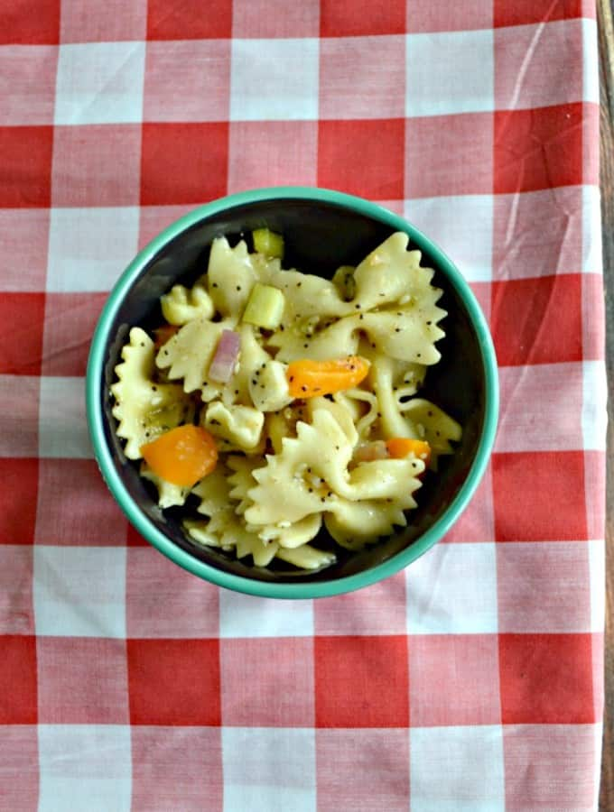 Your family will love the flavors in this Everything Bagel Pasta Salad!