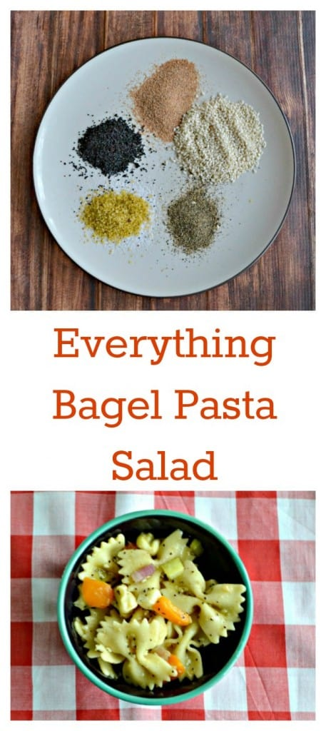 I love the flavors in this Everything Bagel Pasta Salad!