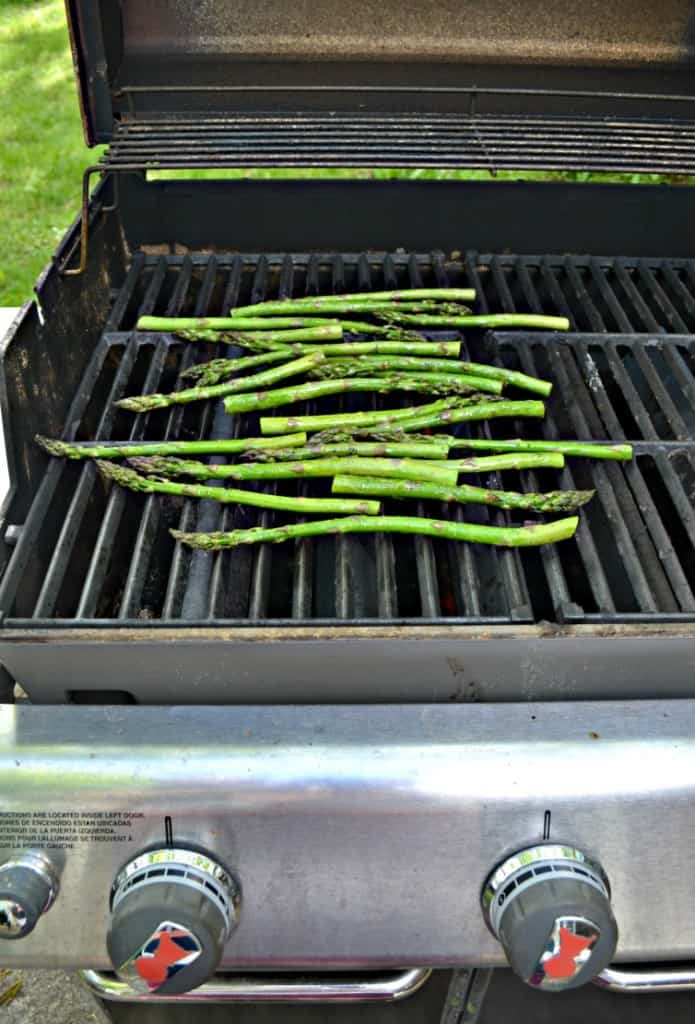 Grilled Greek Asparagus is an easy to make side dish