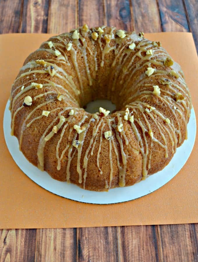 This Kentucky Caramel Bourbon Butter Bundt Cake is a show stopper!