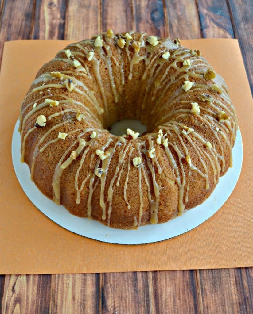 This Kentucky Caramel Bourbon Butter Bundt Cake is a show stopper!
