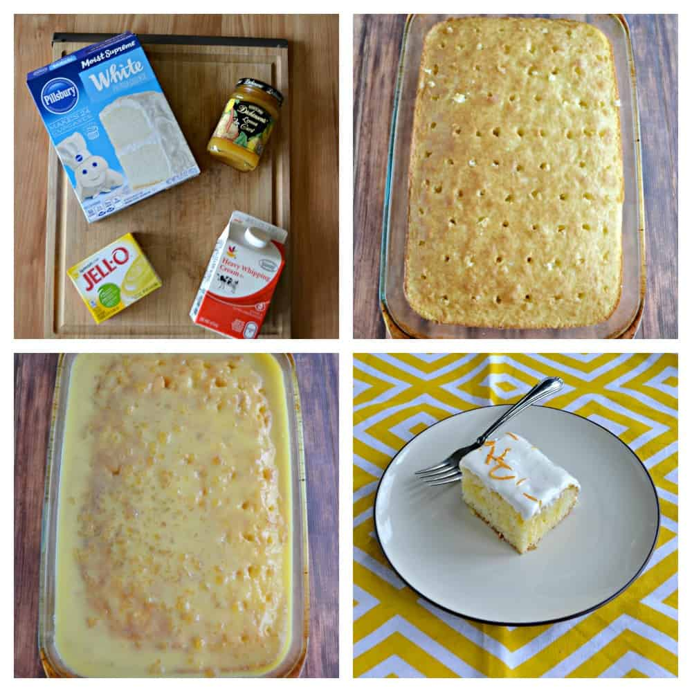 It's so easy to make a delicious Lemon Poke Cake!