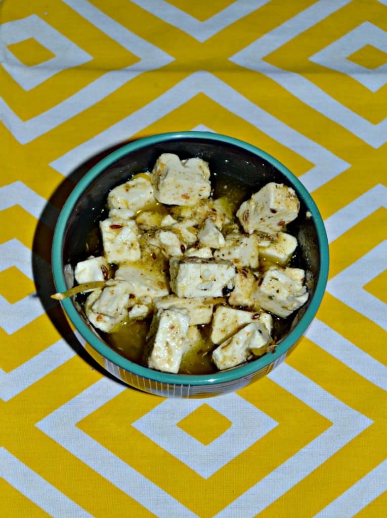Top a salad with this tasty Marinated Feta Cheese!