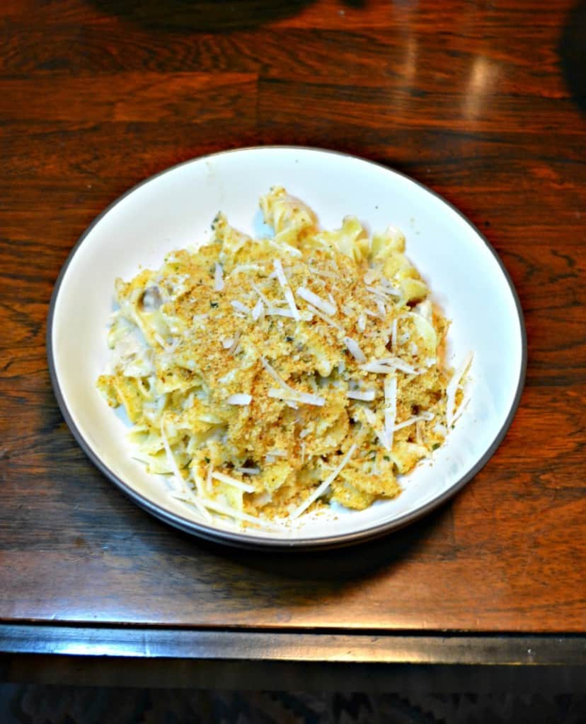 Looking for a delicious casserole? Try this tasty Tuna in a Cream Sauce over Egg Noodles!