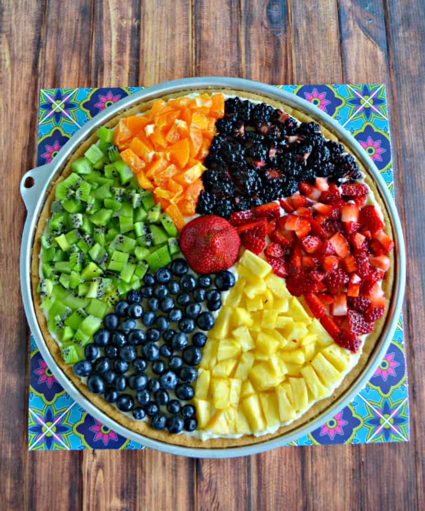 Beach Ball Fruit Pizza is a summertime favorite!