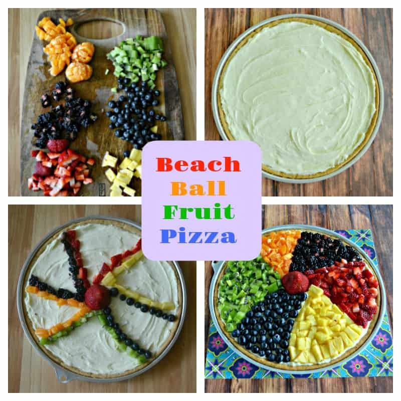 Looking for a fun dessert to take to a pool party or summer picnic? Try my Beach Ball Fruit Pizza!