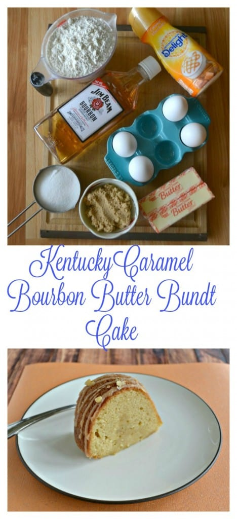 Everything you need to make a mouth watering Kentucky Caramel Bourbon Butter Bundt Cake!