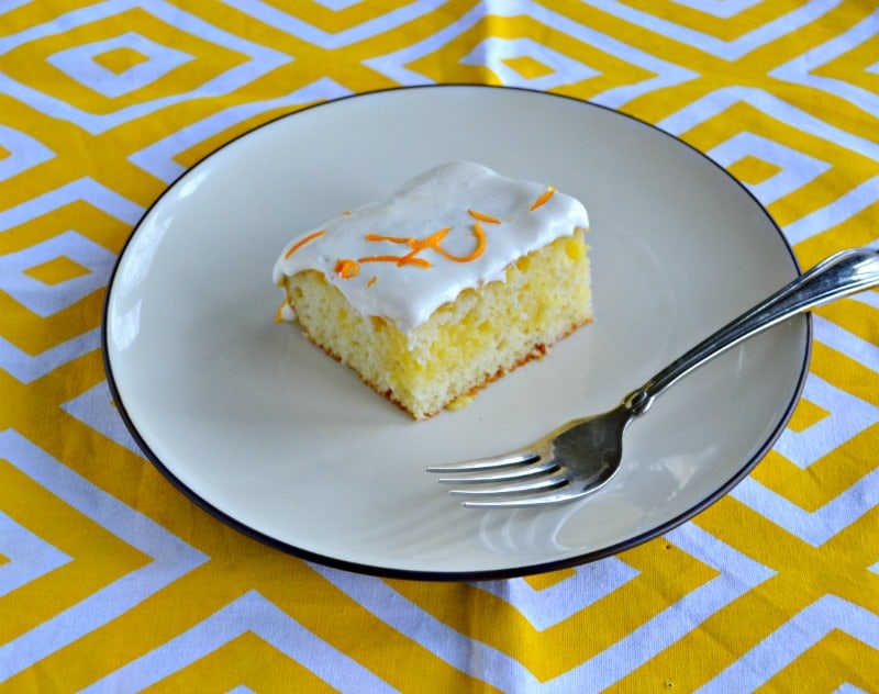It's so easy to make Lemon Poke Cake for dessert!