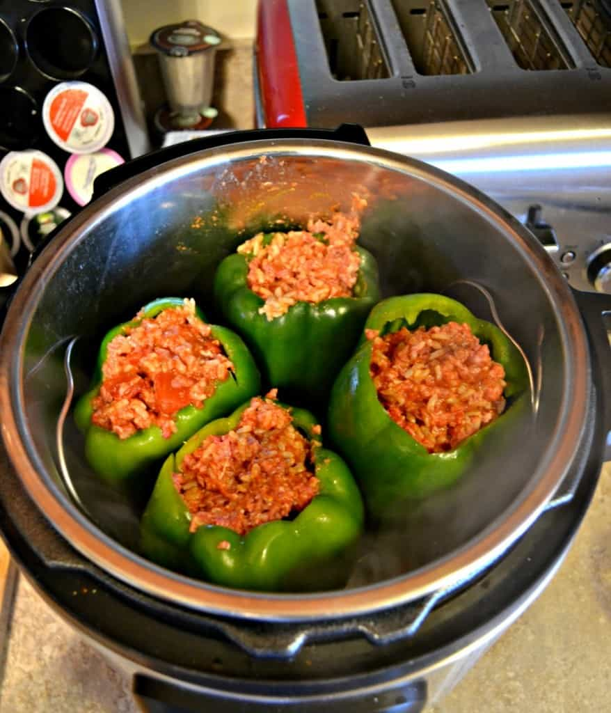 It's easy to make Stuffed Peppers in the Instant Pot!