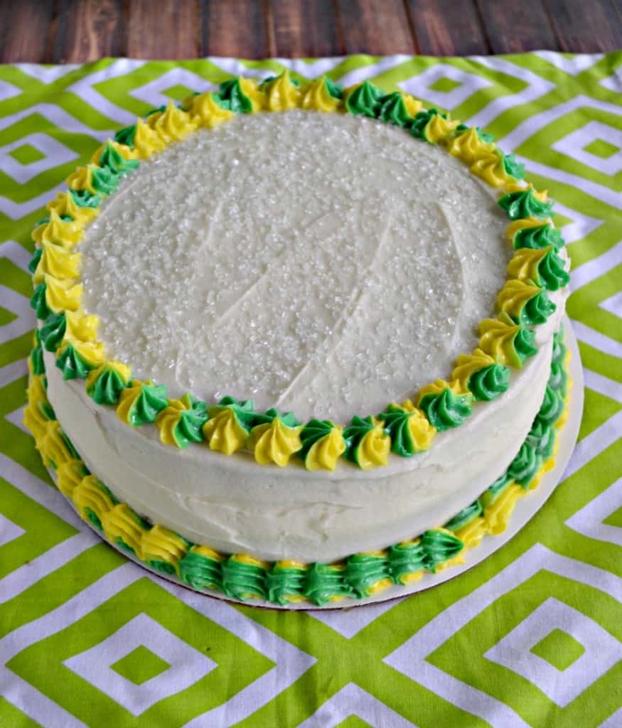 Lime Cake with Passion Fruit Filling and Lime Frosting