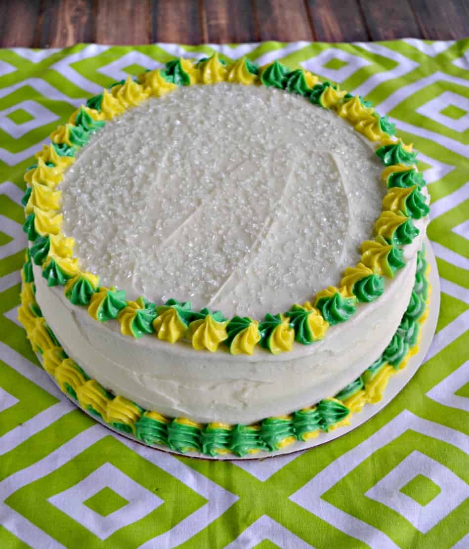 To Make The Lime Cake I Used My Favorite Yellow Recipe And Added In Zest Juice Baked It Two Rounds Came Out