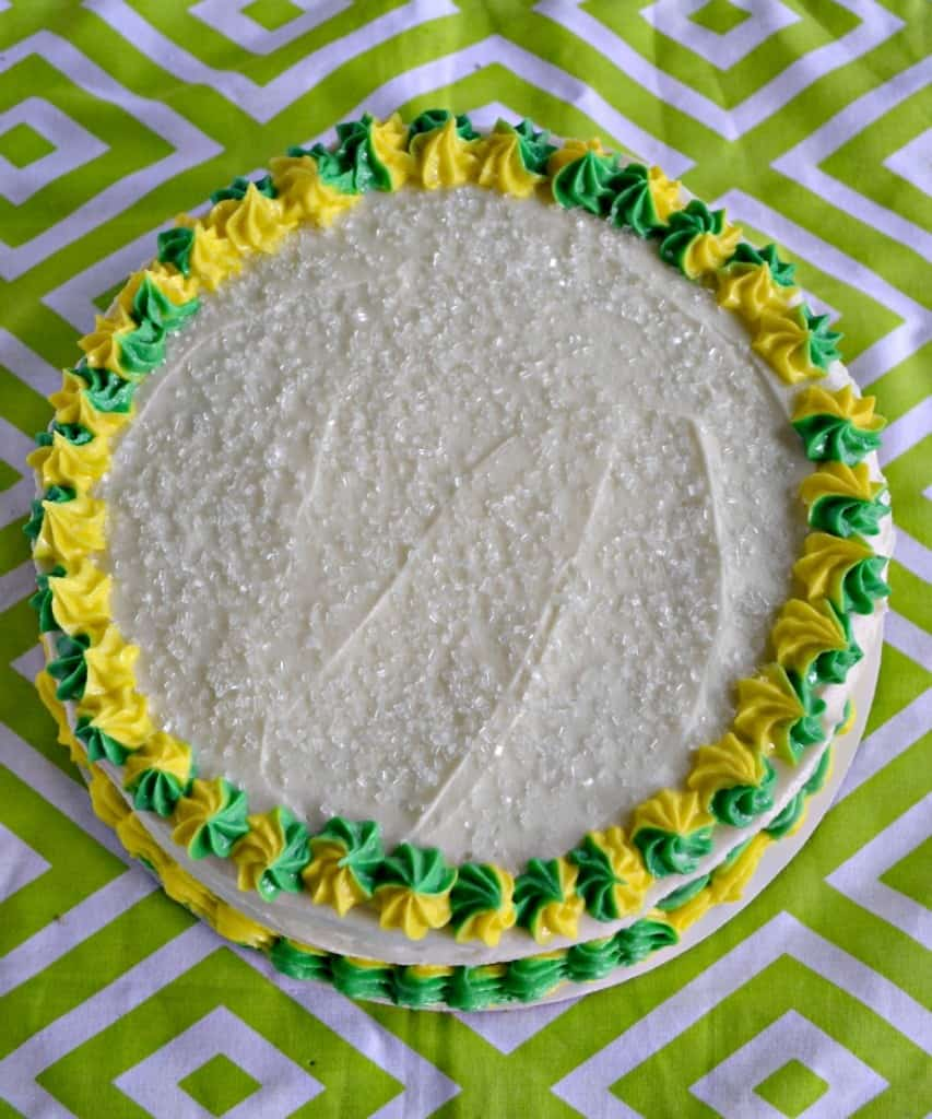 We love the sweet and tart flavors in this Lime Cake with Passion Fruit Filling