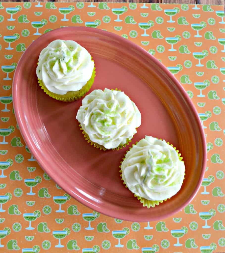 Delicious Lime Cupcakes filled with Lime Curd