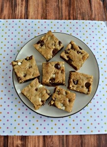 Brown Butter Triple Chip Cookie Bars