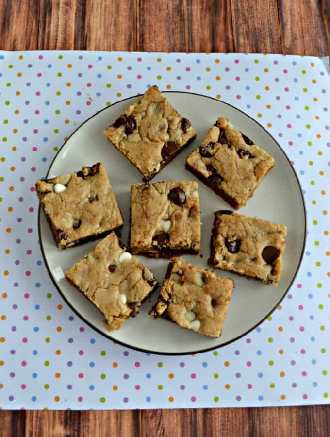 Like chocolate? Then you'll love these Triple Chocolate Chip Cookie Bars!