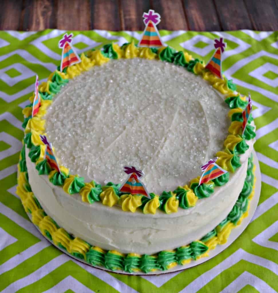 Birthdays call for fun flavors like this Lime Cake with Passion Fruit Filling!