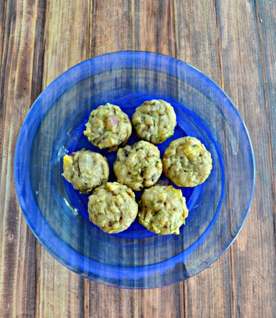Looking for muffins safe for baby and toddler? Check out my healthy Zucchini Muffins filled with fruit and veggies!