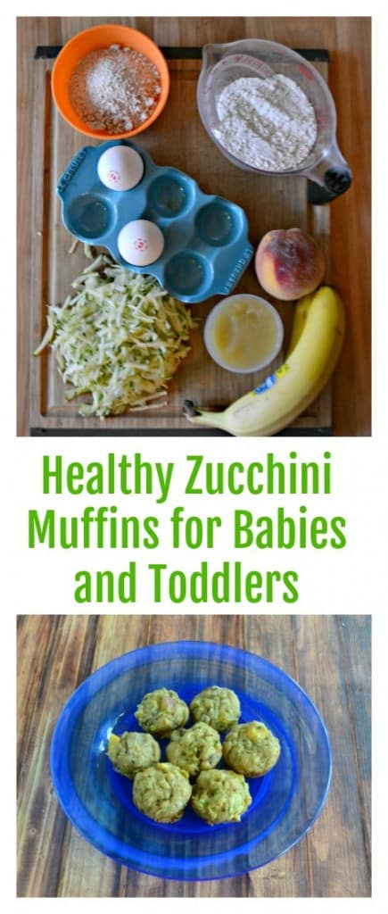 It's easy to make Healthy Zucchini Muffins for babies and toddlers and tailor them to your child's tastes.