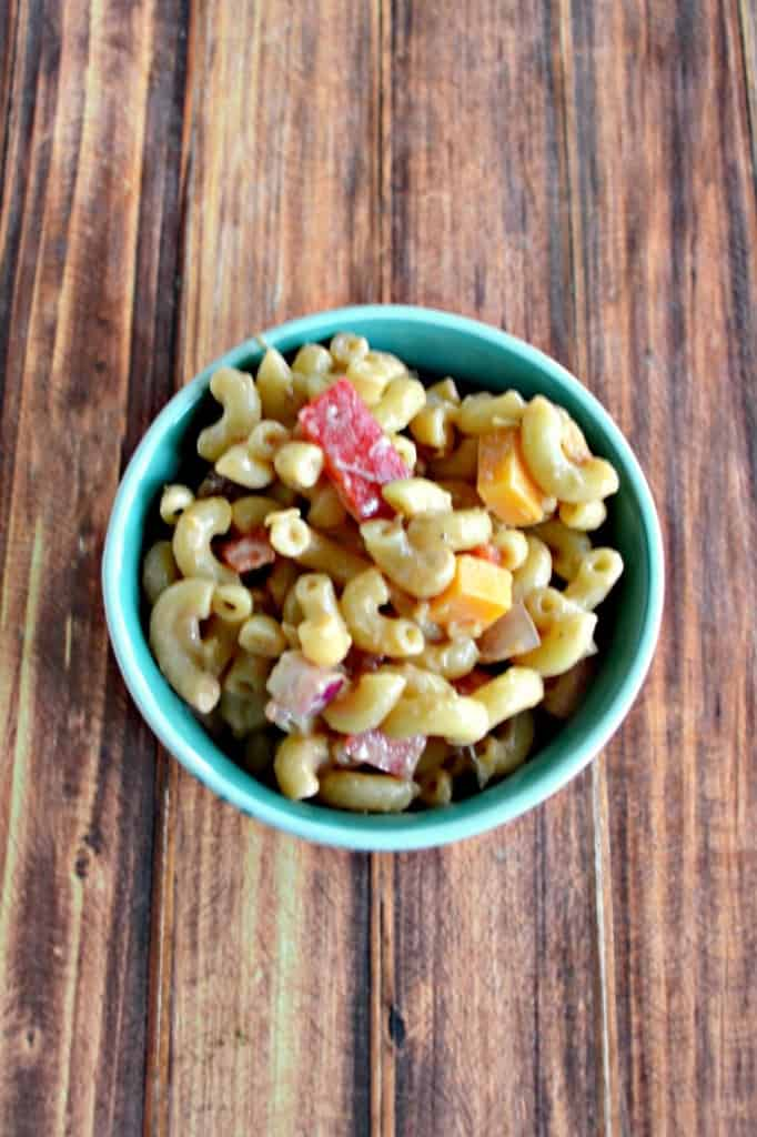 Tired of the same old pasta salad?  Try my BBQ Ranch Pasta Salad!