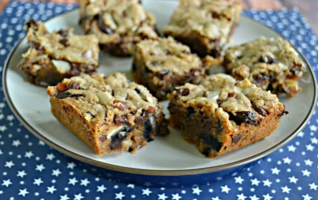 Fill these Compost Cookie Bars with your favorite sweet and salty snacks!