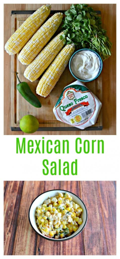EVerything you need to make Mexican Corn Salad