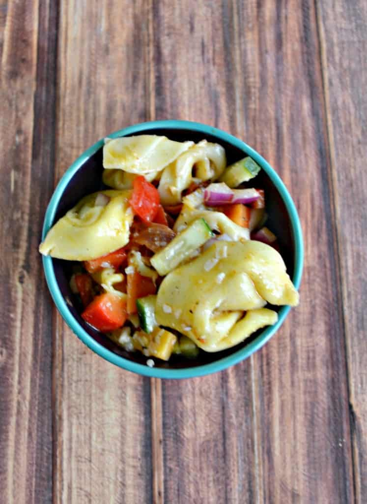 Tortellini Pasta Salad is a flavorful and easy to make summer side dish.