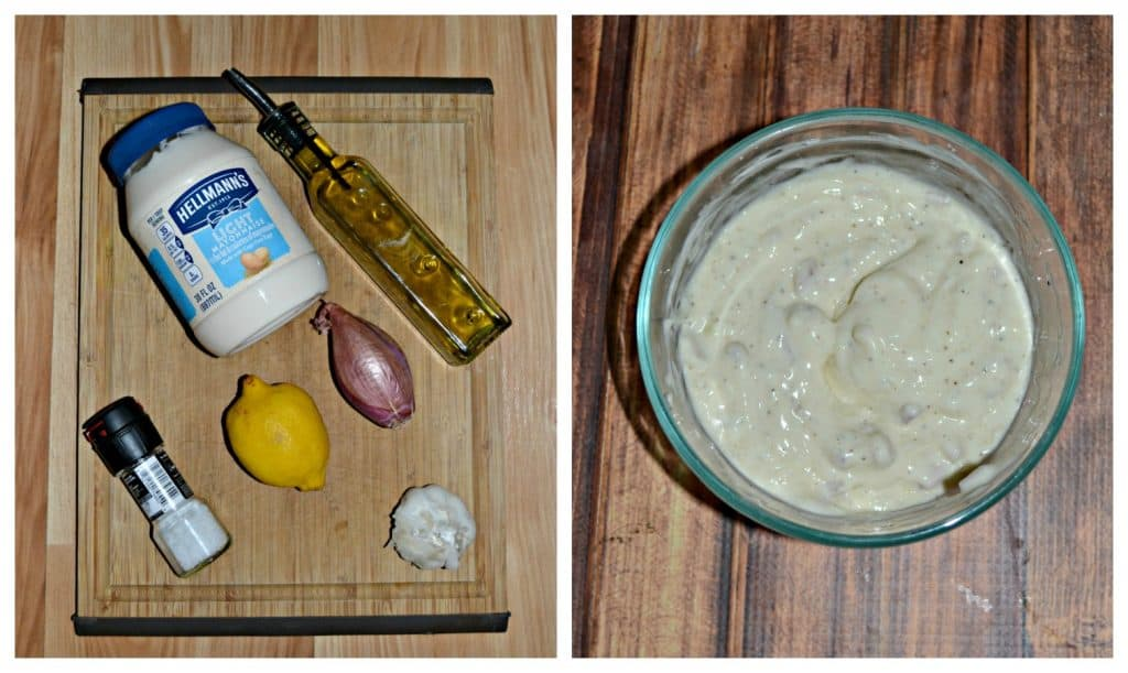 Lemon Shallot Aioli is greaat on burgers and salads!
