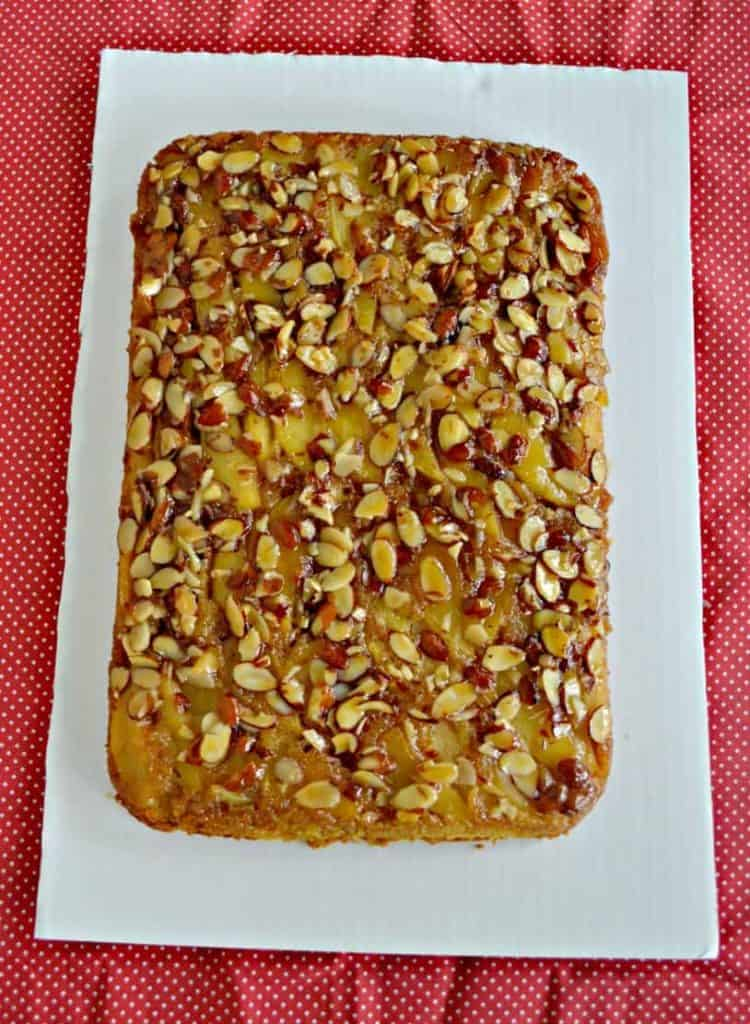 Take a boxed cake mix to another level with this Caramel Apple Upside Down Cake