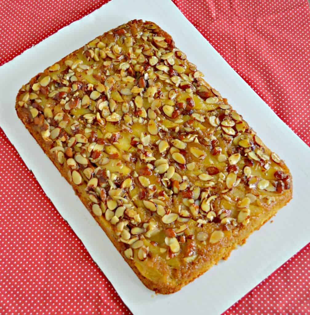 You'll want more than just one piece of this Caramel Apple Upside Down Cake!