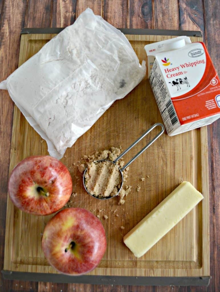 Caramel Apple Upside Down Cake starts with a boxed cake mix!