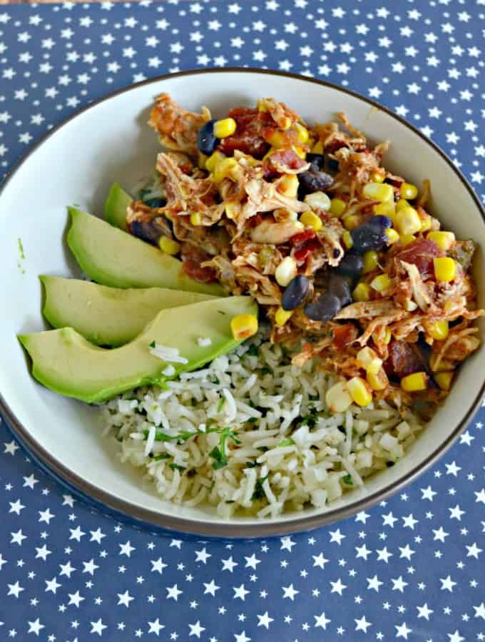 Fresh and delicious Chipotle Chicken Bowls made in the Instant Pot!