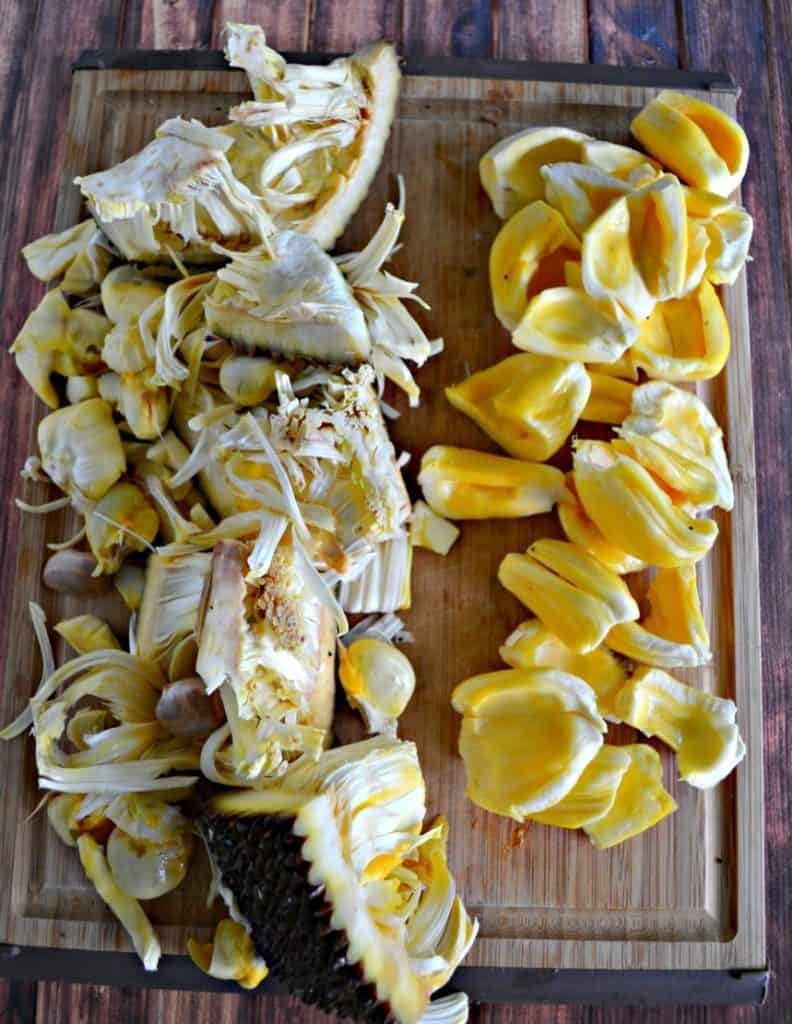 Learn how to get the fruit out of a Jackfruit!