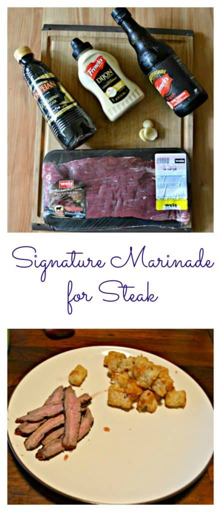 Everything you need to make an easy but delicious Signature Steak Marinade