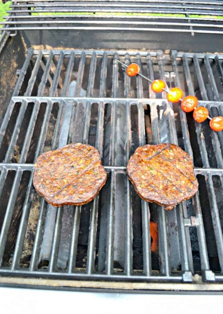 Grill up MorningStar Farms Veggie Lovers Burgers and top them with tomatoes, spinach, and mozzarella!