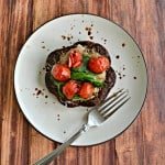 Grilled Spinach Caprese Veggie Burger Stacks