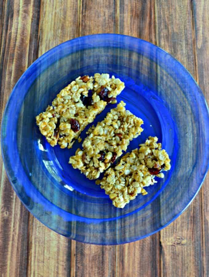 Grab one of these Granola Bars with Cranberries and Pecans for breakfast!