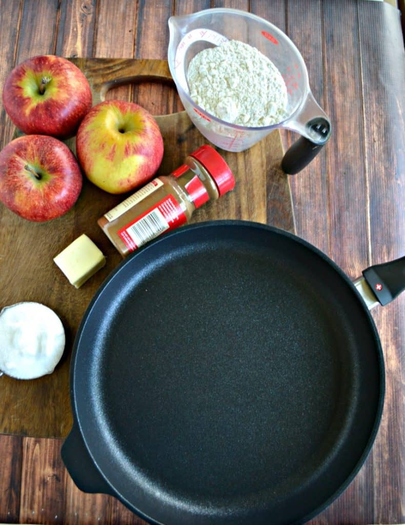Everything you need to make Salted Caramel Apple Crisp