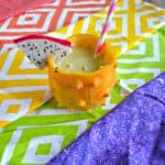 Freaky Fruits Cocktail in a Kiwano Horned Melon Cup #FreakyFruitsFriday
