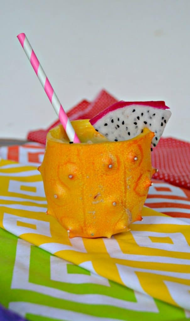Freaky Fruits Cocktail has 5 different types of fruit in this fun cocktail.